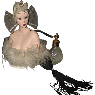 Collectible Chinese woman hard plastic bust/atomizer perfume