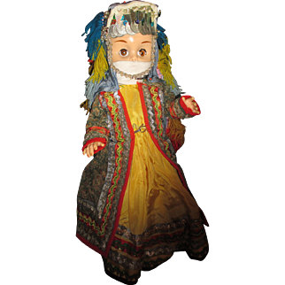 Vintage Middle Eastern hand made clothing doll