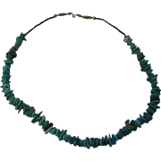 Vintage chunky turquoise tiger eye necklace