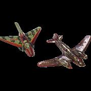 Vintage 1 Tin 1 plastic war planes