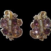 Vintage crown Trifari earrings Design Pat Pend.
