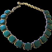 Coro thermostat plastic  green necklace