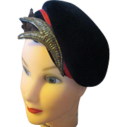 Vintage 1950's/60's Parkridge exclusive wool ladies hat