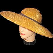 Vintage Garden Party Vintage straw hat