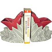 Early 1950's McCoy tulip bookends