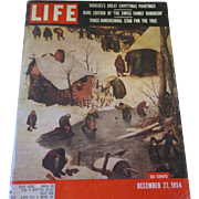 December 27,1954 Life Magazine, nice lithographs