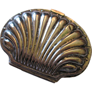 Victorian Silverplate  clam coin purse