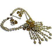 Beautiful Miriam Haskell Large drippy baroque pearl Demi.