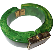 Bakelite end of the day swirl green Royal Dynasty watch