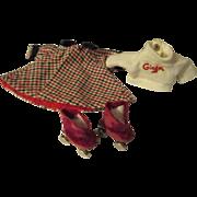 Vintage Vogue/Ginny winter jacket, matching skates etc