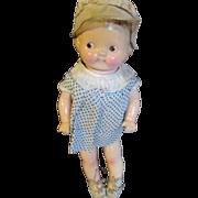 Original Campbells Kids Compo doll 1930's googly eyes.
