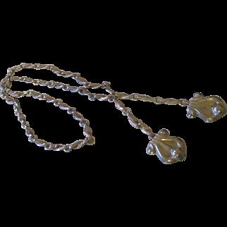 Vintage sterling/Taxco/eagle 3 Fleur de lis necklace