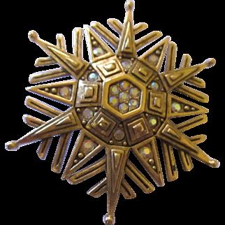 Jeweled AB rhinestones Snow Flake by J.J