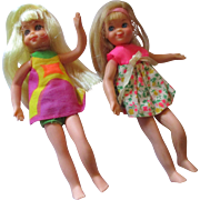 Vintage Tutti & Chris bendable dolls