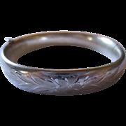Vintage Carl Art sterling silver bangle bracelet.