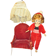 "Vintage 1957 Jill/Vogue 10 1/2"" doll/hair style chair"
