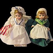 Vintage Pair Little Women Betsy Ross, Ireland dolls/hang tags