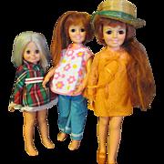 Vintage Ideal dolls, Crissy x 2 Kerry 1 dolls