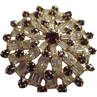 Gorgeous Wiesner bright shiny large brooch