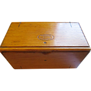 Antique Singer  wood Puzzle box 1889