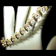 Gorgeous 6.5 diamond carat 14k yellow gold tennis bracelet