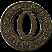 Vintage 1950's Oklahoma Railway token