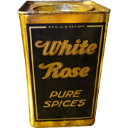 Vintage White Rose Nutmeg/Seeman Brothers tin.