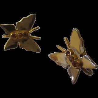Vintage butterfly earrings by Coro