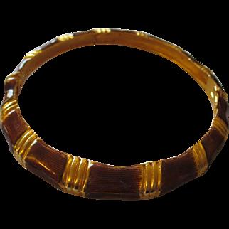 Kenneth J. Lane enamel gold tone bracelet