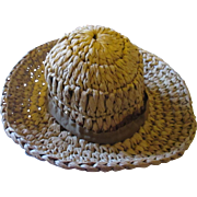 Vintage soft straw doll hat.