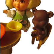 Vintage Storykins, Goldilocks/bear set.