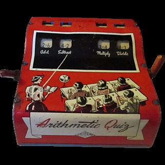 Vintage Arithmetic Quiz Wolverine tin machine