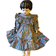 Vintage Porcelain Farmer Doll Made in the USA.