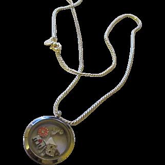 Stainless steel Orgami Owl charm locket