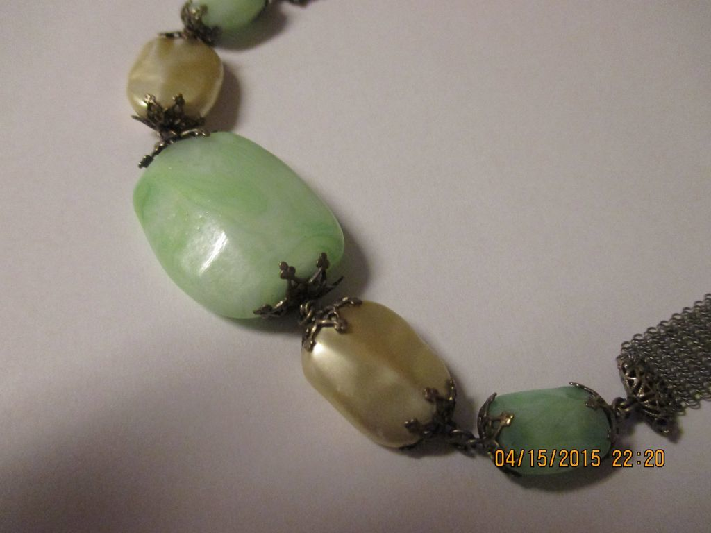Fabulous art deco peking glass faux baroque pearls for Deco baroque