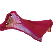 Vintage Barbie doll long dark pink cape/coat