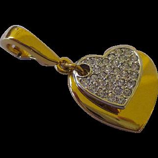 Nolan Miller double heart pendant