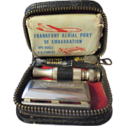 Vintage World War Two Mens shaving Kit.