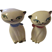Vintage 1958 Holt Howard matching Siamese Cat salt and pepper shakers.