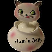 Vintage Holt Howard Jam' n Jelly Condiment  pink cat ( Hard to Find)