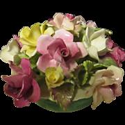 ( Sold to Carolyn )  Vintage Porcelain floral vase Crown Fine bone china staffordshire England 1930-1956