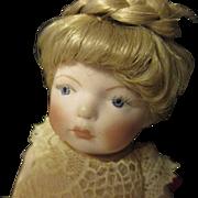"Antique miniature all bisque Mignonette 7"" doll."