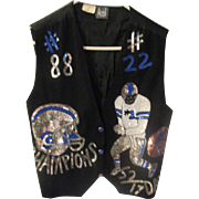 Vintage rayon Modi Dallas Cowboys sequin Emmitt Smith, Michael Irvin ladies vest