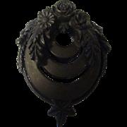 Antique Victorian Gutta Percha Pendant