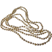 Super long fresh water pearl necklace