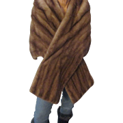 Beautiful horizontal Mink in a dark honey color, Cape Whitten Furs