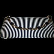 Classic Blue & white striped, Vicini Italy cloth purse