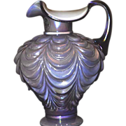Fenton Lavender cased Glass with white interior Pitcher