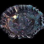 Imperial Amethyst Carnival Open Rose 8 1/2 inch 3 in 1 Ruffle Bowl
