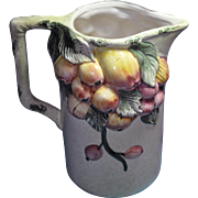 Majolica from Italy Pomegranate Fruit in Relief Stone Pitcher